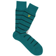 Lyle & Scott Men's Colour Block Socks (FREE when you buy any full price Lyle & Scott product) - Green