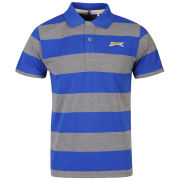 Slazenger Men's Striped Polo Shirt - Blue/Grey