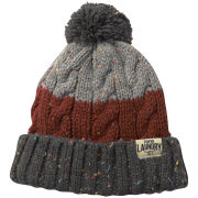 Tokyo Laundry Men's Enstone Stripped Bobble Hat - Charcoal Nep/Paprika Nep/Light Grey Nep