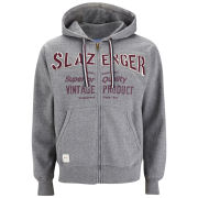 Slazenger Men's St. John Zip Thru Applique Hoody - Dark Grey Marl
