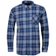 Brave Soul Men's Bate Long Sleeve Shirt - Navy