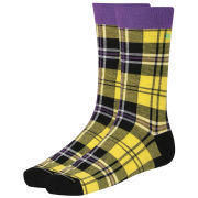 Bjorn Borg Men's Clan Check Socks - Lemon Zest