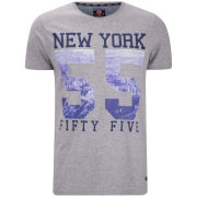 55 Soul Men's Utopia Photographic Number Print T-Shirt - Grey