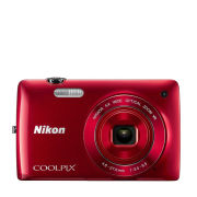 Nikon Coolpix S4300 Compact Digital Camera  Red (16MP  6x Optical Zoom  3 Inch LCD)  Grade A Refurb