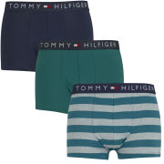Tommy Hilfiger Men's Elias Trunks 3-Pack - Shaded Spruce/Peacoat