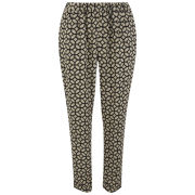 Vero Moda Women's Mosa Print Loose Pants - Black
