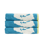 Kingsley Bloom Towels - Kingfisher