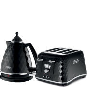 De'Longhi Brillante 4 Slice Toaster and Kettle Bundle - Black