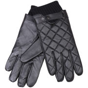 Barbour Men's Quilted Leather Gloves - Black
