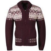 Farah 1920 Men's Wilkins Long Sleeve Cardigan - Bordeaux