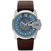 Diesel Men's Master Chief 44m Leather Watch - Brown/Stainless Steel