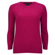 Marc by Marc Jacobs Women's Pieced and Panelled Crew Neck Jumper - Strawberry Daiquiri
