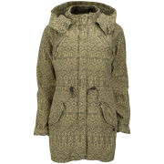 Maison Scotch Women's Slubby Print Parka - Green - XL/UK 14 XL/UK 14 Green