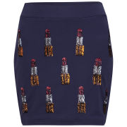 House of Holland Women's Sequin Lipstick Embellished Sweat Skirt - Navy