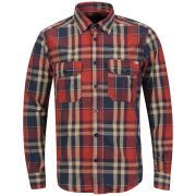 Jack & Jones Vintage Men's Elektro Check Shirt - Blue Multi