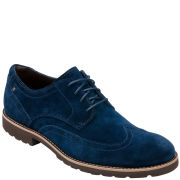 Rockport Men's LH Wingtip Shoes - Navy Suede