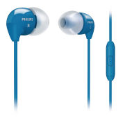 Philips SHE3595BL/28 Earphones with Dynamic Bass and Mic - Blue