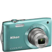 Nikon Coolpix S3300 Compact Digital Camera  Green (16MP  6x Optical Zoom  2.7 Inch LCD)   Grade A Refurb