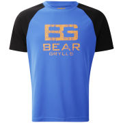 Craghoppers Men's Bear Grylls Technical T-Shirt (Large Logo) - Extreme Blue