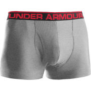 Under Armour Men's The Original 3 Inch Boxerjock - True Grey Heather/Red