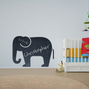 Elephant Vinyl Wall Art Chalkboard Decal for Kids and Children's Nursery (with Free Crab Decal)