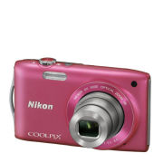 Nikon Coolpix S3300 Compact Digital Camera  Pink (16MP  6x Optical Zoom  2.7 Inch LCD)   Grade A Refurb