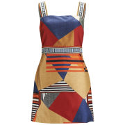 Diane von Furstenberg Women's Jakarta Diamond Stripe Mini Dress - Multi