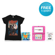 Nintendo 3DS XL Pink Tomodachi Life + The Vamps T-Shirt Pack