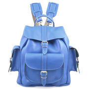 Grafea Smurf Medium Leather Rucksack - Blue