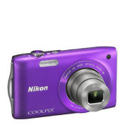 Nikon Coolpix S3300 Compact Digital Camera  Purple (16MP  6x Optical Zoom  2.7 Inch LCD)   Grade A Refurb