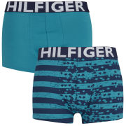 Tommy Hilfiger Men's Gunner Trunks 2-Pack - Caribbean Sea