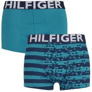 Tommy Hilfiger Men's Gunner Trunks 2-Pack - Caribbean Sea