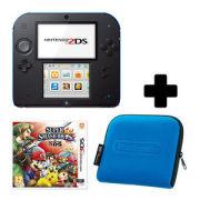 Nintendo 2DS Black/Blue Super Smash Bros. For Nintendo 3DS Pack