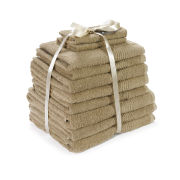 100% Egyptian Cotton 10 Piece Towel Bale (550gsm) - Latte