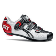 Sidi Genius 5 Fit Mega Carbon Cycling Shoes - White/Black/Red 2014