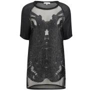 IRO Women's Sheer Tunic Top - Black