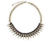 Love Rocks Spike Necklace - Gold