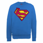 DC Comics Sweatshirt - Superman Shards Logo - Royal Blue