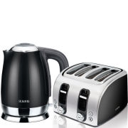 AEG Stainless Steel Toaster and Kettle Bundle - Black