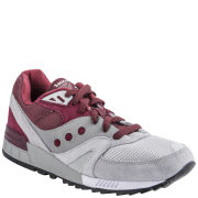 Saucony Men's Shadow Master 'In The Shadows' Trainers - Grey/Burgundy
