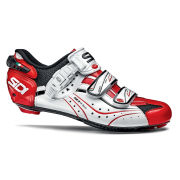 Sidi Genius 6.6 Carbon Vernice Cycling Shoes - Black/White/Red