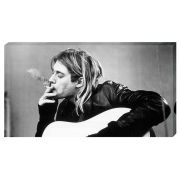 Kurt Cobain Smoking - 30 x 55cm Value Canvas
