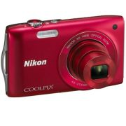 Nikon Coolpix S3200  Red (16 MP  6 x Optical Zoom  2.7 Inch LCD)  Grade A Refurb