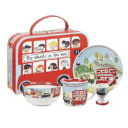 Queens Wheels on the Bus 4 Piece Breakfast Set