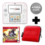 Nintendo 2DS White/Red Pokémon Omega Ruby Pack