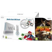 White Nintendo Wii Console Bundle: (Mario Kart Pack Plus with Need For Speed: The Run)