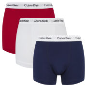Calvin Klein Men's Trunks - Red/White/Navy Multi