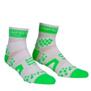 Compressport Pro Racing Socks - Run (HighCut) - White/Green
