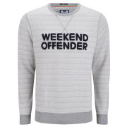 Weekend Offender Men's Ortega Sweat - Light Grey Marl