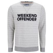 Weekend Offender Men's Ortega Sweat - Light Grey Marl